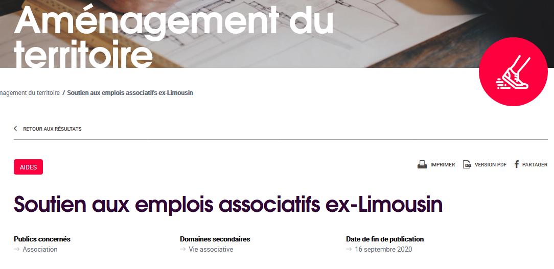 Emploi Associatifs Limousin, une petite année de plus