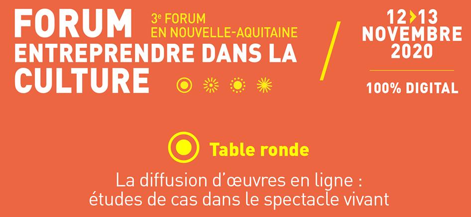 Diffusion des œuvres en ligne : retour sur les échanges du Forum Entreprendre dans la culture
