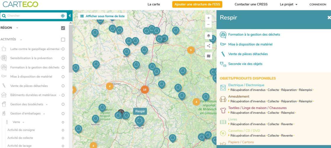 Identifier les acteurs de l'économie circulaire sur son territoire grâce à la plateforme Carteco